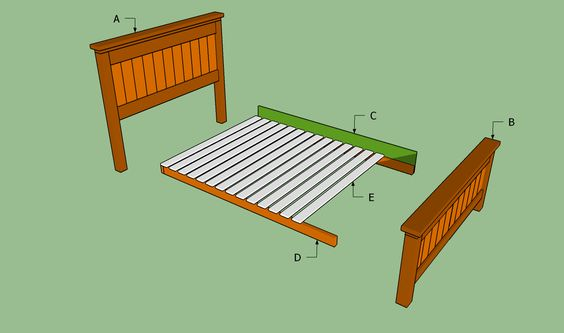 Best Building A Queen Size Bed Our Room Pinterest Bed 400 x 300