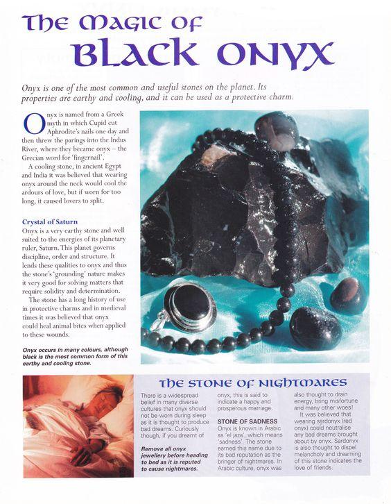 Onyx Healing Properties : Crystals stones the magic of black onyx crystal