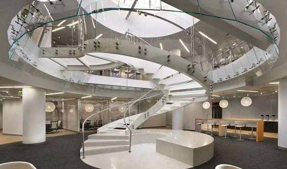 Curved Stairs Design   ... Curved Stair Design : Amazing Elegant Stair Design Luxury Look #stairway #homestairy