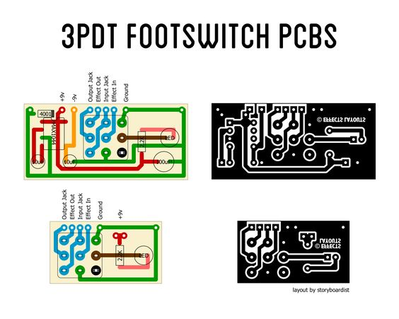 3pdt guitar pedal footswitch wiring pcb schematics google search guitar pinterest pump. Black Bedroom Furniture Sets. Home Design Ideas