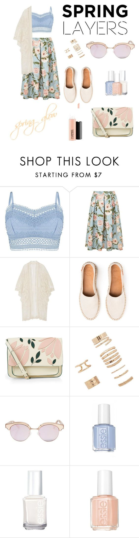 """""""springtime"""" by agnessavr ❤ liked on Polyvore featuring Lipsy, Miss Selfridge, Anna Sui, Accessorize, Forever 21, Le Specs, Essie, MAC Cosmetics, springtime and cutecardigan"""