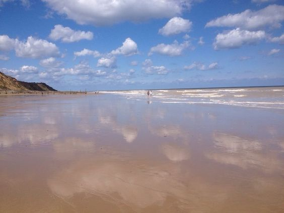 Reflections of Mundesley beach