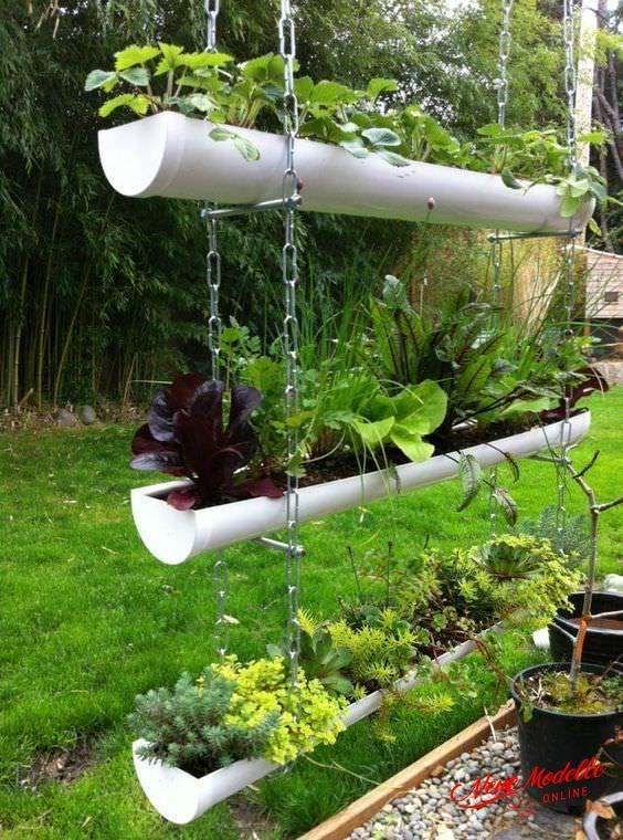 10 Tolle Ideen Um Eine Dachrinne Zu Recyceln Vertikaler Krautergarten Hangender Garten Indoor Garten