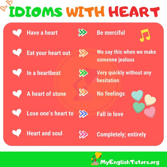 10+ Heart Idioms and Expressions in English