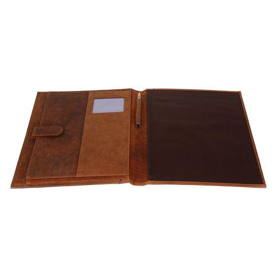 Amazon.com : Leather Business Portfolio Padfolio File Folder Sale Lightning…