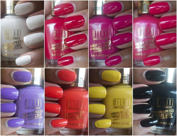 Milani Fast Speed Dry polishes