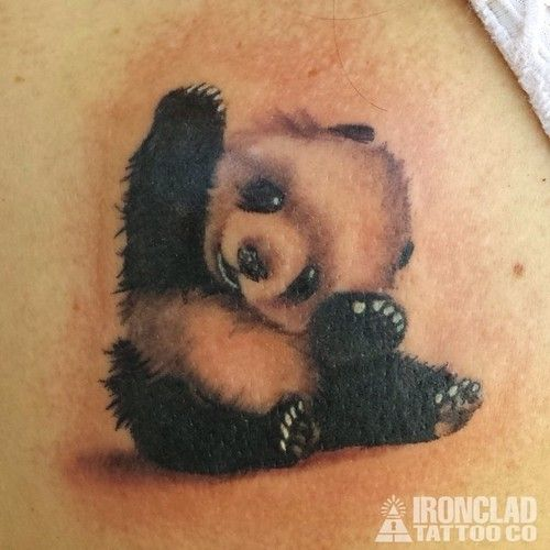 Baby Panda Tattoos | eyecatchingtattoos.com