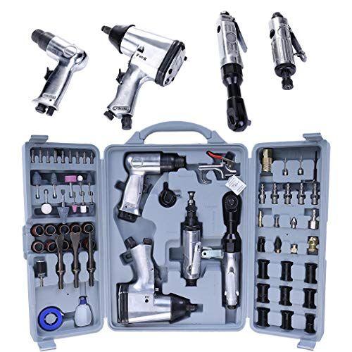 71 Pcs Air Impact Wrench Set Air Tool Pneumatic Tools Pneumatic Mould Air Pneumatic Die With Storage Case Air Tools Impact Wrench Wrench Set
