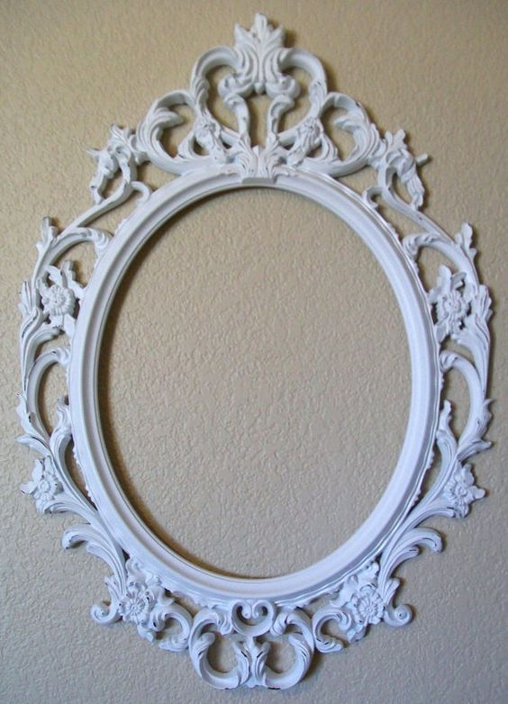 Shabby chic frames frames and shabby chic on pinterest for Big mirror with white frame