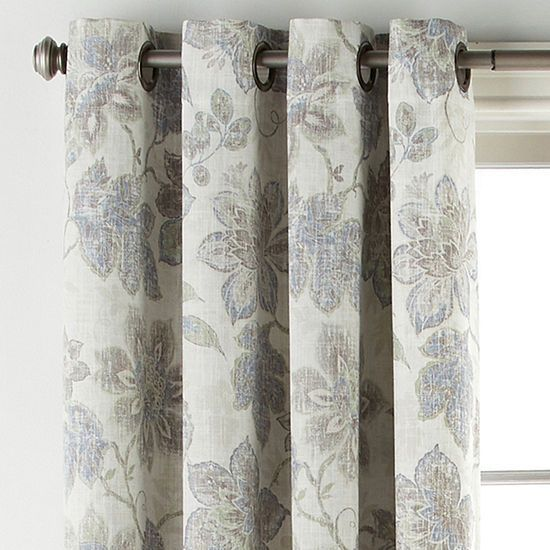 Jcpenney Home Sullivan Floral Bo Blackout Grommet Top Curtain