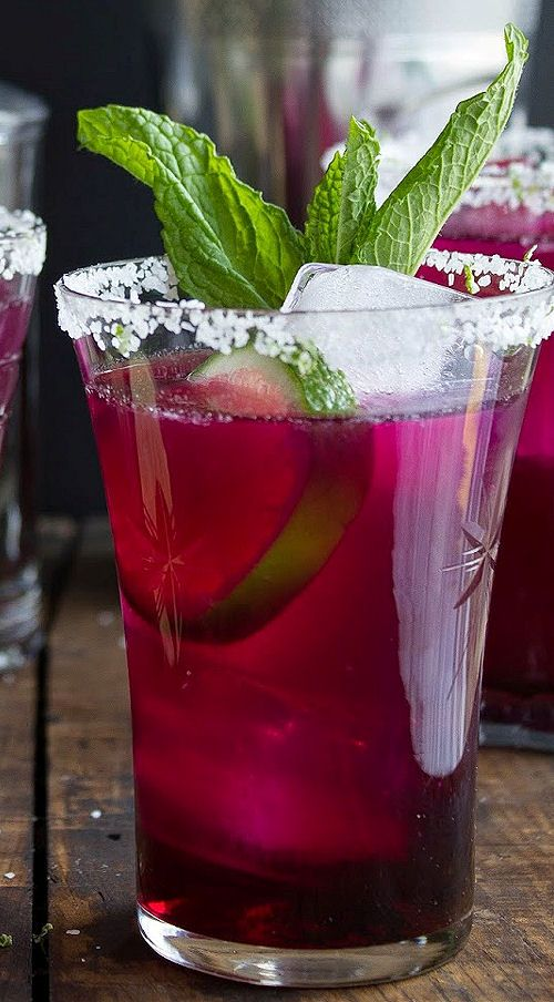 Prickly Pear Margarita by Pink Patisserie ~ The classic Margarita with a twist...adding Prickly Pear Syrup. Perfect for Cinco de Mayo! #CincodeMayo #cocktail #recipe