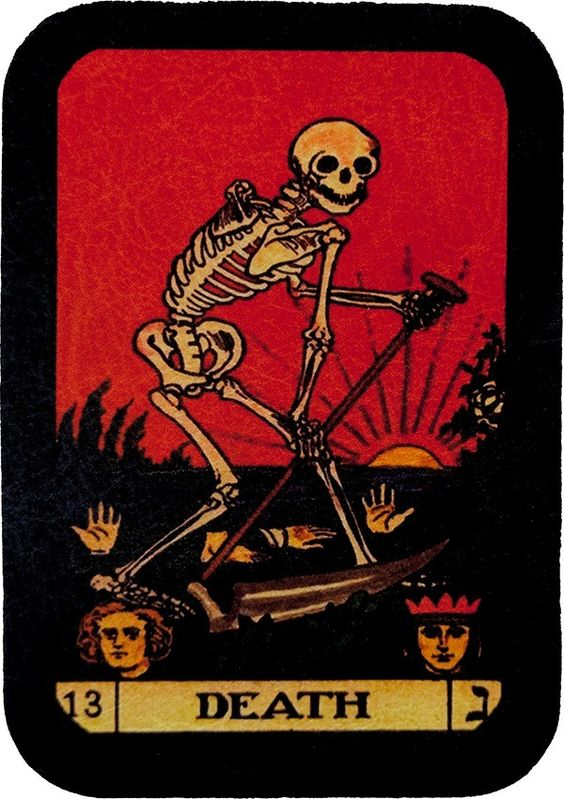 Tarot Combat A Battle Oriented Game Using A Tarot Deck: Death Tarot Card Patch, Leather Motorcycle Patches