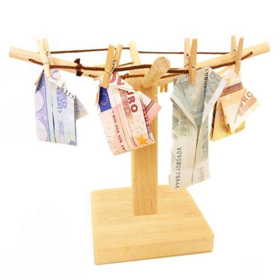 Wäschespinne für Geldgeschenke