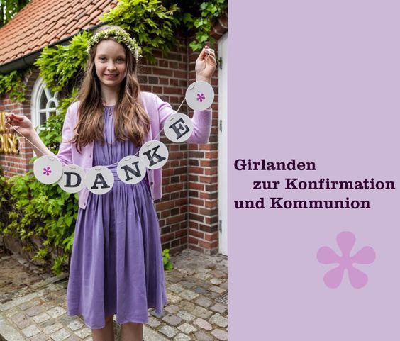 Konfirmation Kommunion Deko Girlande Dekoration renna deluxe
