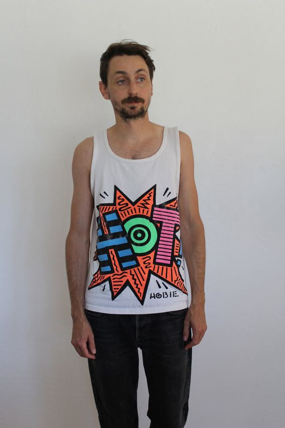 80s Hobie Wind Sailing Tank Top Mens Small by FiestaForever
