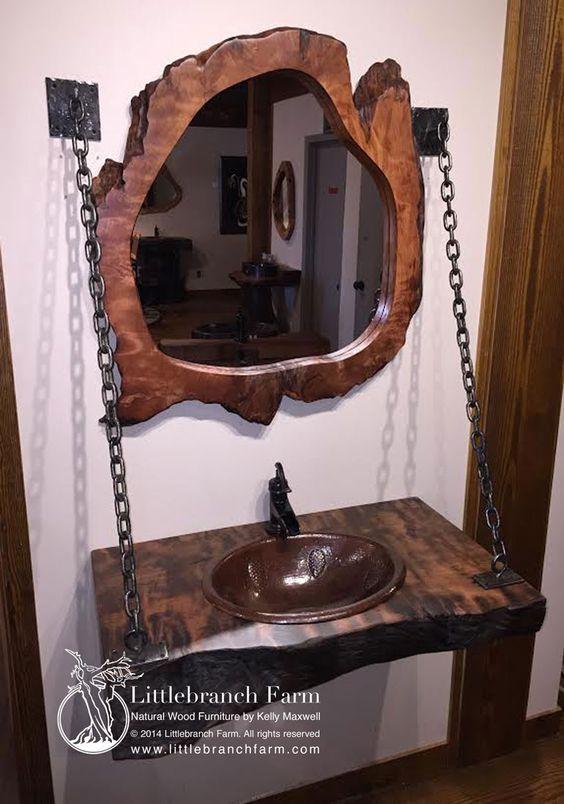 Wood Slab Rustic Bathroom Vanity This Unique Floating