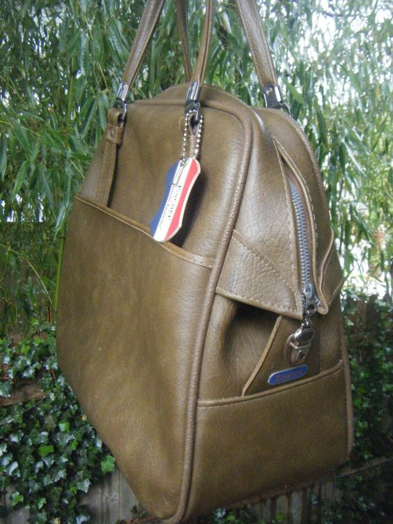 Father's Day CLEARANCE Vintage Brown Faux Leather Carry On Bag by ...