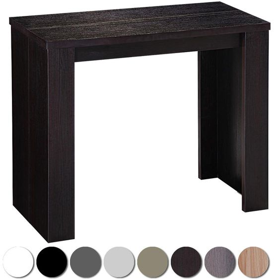 Table console extensible brookline bois wenge 453 349 for Table extensible jusqu a 14 personnes