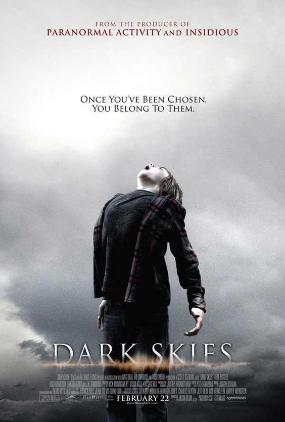 """""""Dark Skies"""" - As the Barret family's peaceful suburban life is rocked by an escalating series of disturbing events, they come to learn that a terrifying and deadly force is after them. This is a really, really good movie. With Keri Russell, who's always amazing. Image and info credit: IMDb."""