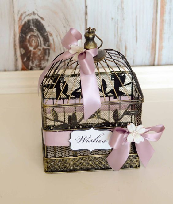 Wedding Birdcage Card Holder Custom to by FeatherRiverBoutique, $35.00