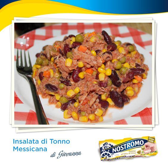 Amici e amiche del Nostromo oggi salpiamo al largo del Messico con la nostra blogger Giovanna e la sua gustosa insalata con tonno Nostromo, mais e fagioli: http://latavolaallegra.blogspot.it/2014/01/insalata-messicana-di-tonno.html  #tonno #tuna #mais #fagioli #ricetta #recipe #insalata #salade