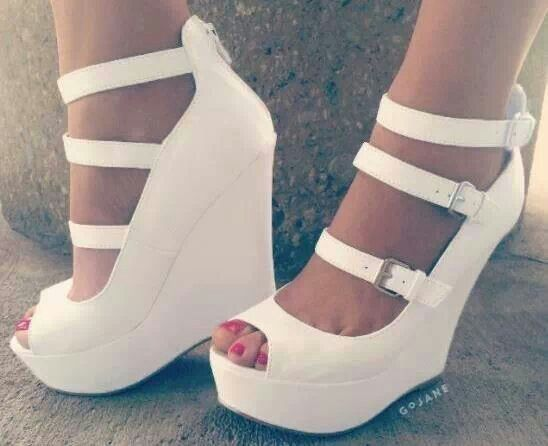 White Wedges | Shoes → Wedges | Pinterest | Jackets White wedges