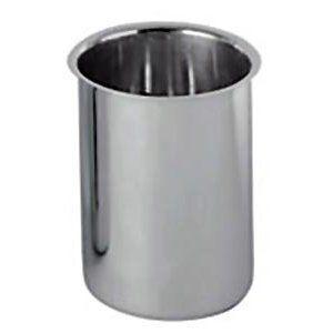 "Update International Stainless Steel Bain Marie Pot 3.5 Ounce by Update International. $5.64. Case unit: 6.. Inside Diameter: 6-5/16 - (16.1 cm).. Thickness: 0.7 mm.. Capacity: 3-1/2 Quart (3.3 lt.).. Depth: 7-1/16 - (18 cm).. Bain Marie 3-1/2 quart 6-5/16"" dia. 7-1/16""H 0.7 mm thick stainless steel"