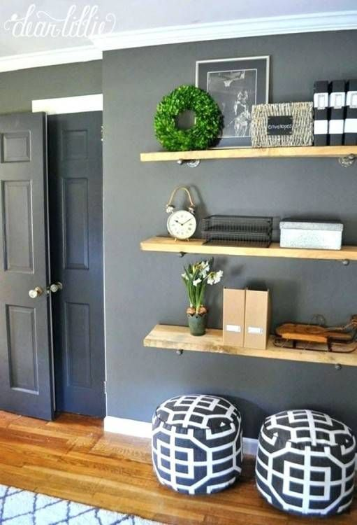 Office Wall Decorating Ideas For Work In 2020 Shelf Decor Living Room Home Home Decor