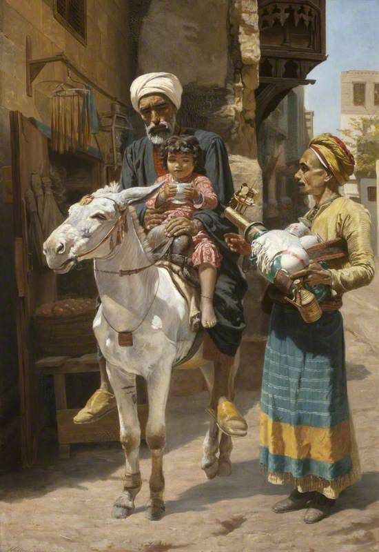 The Water Seller, Cairo - Walter Charles Horsley (1855-1934) Oil on Canvas,: