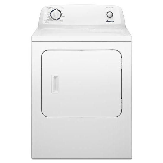 Amana 6 5 Cu Ft White Electric Dryer With Wrinkle Prevent Option