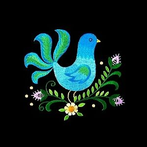 Polish folk-art style embroidery design. From Golden Needle Designs