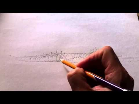 ▶ How to draw a Wave with pencil - YouTube