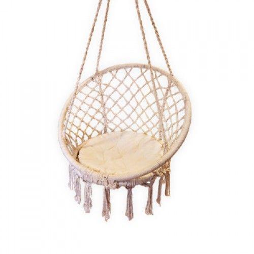 Macrame hanging chair porsche 39 s house pinterest - Make a macrame hanging chair ...