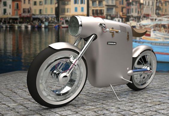 Moto électrique Monocasco par Art Tic