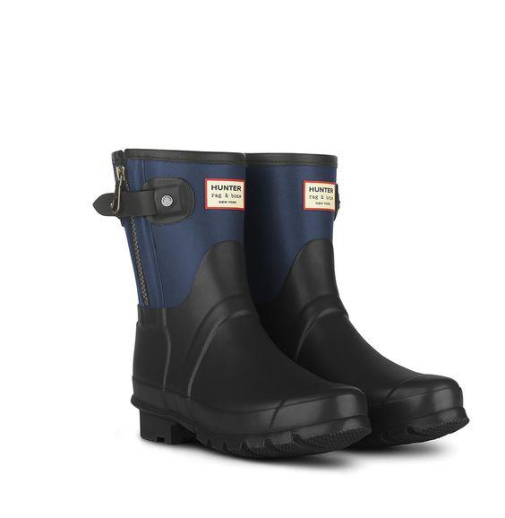Hunter + rag & bone Short Boots in Black/Navy