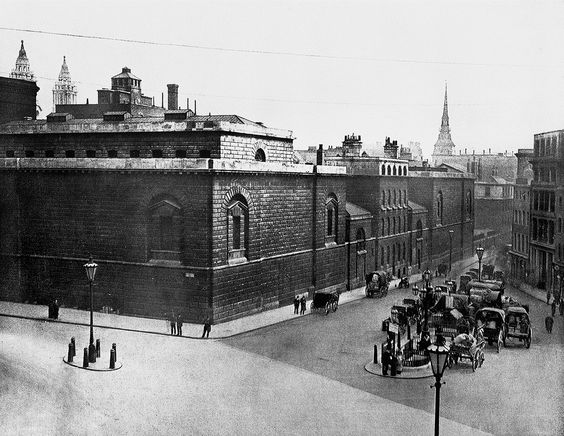 Newgate Prison just before it was closed and demolished