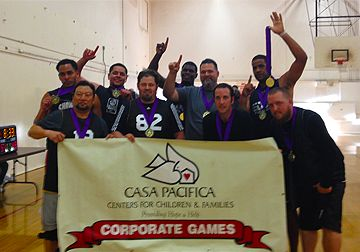 CONGRATULATIONS! to our Casa Pacifica basketball team for placing FIRST and winning the #gold in the #venturacorporategames! #casapacifica
