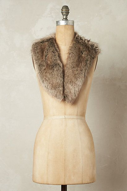Anthropologie EU Snowhill Faux Fur Collar