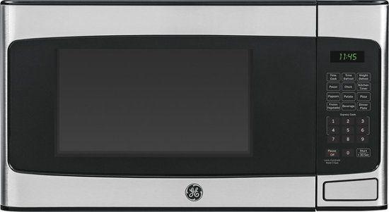 Ge 1 1 Cu Ft Mid Size Microwave Silver Jes1145shss Best Buy