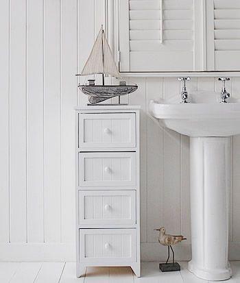 Bathroom Cabinet Storage White 4 Drawer Freestanding Bathroom Storage Unit For The Home
