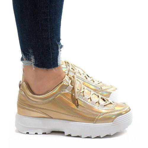Zlote Modne Obuwie Sportowe 82017 Zloty Shoes Fashion Sports Shoes