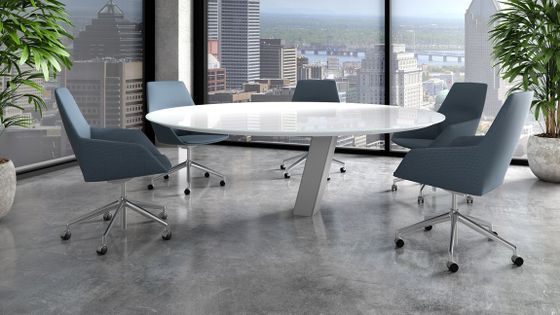 This Ultra Modern Conference Table Design Provides The Perfect Balance Of Form A Modern Conference Table Conference Table Design Modern Conference Table Design