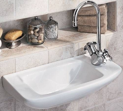 Recessed Shelf Behind Tiny Sinkperfect Where There's No Counter Best Bathroom Sinks Small Decorating Design