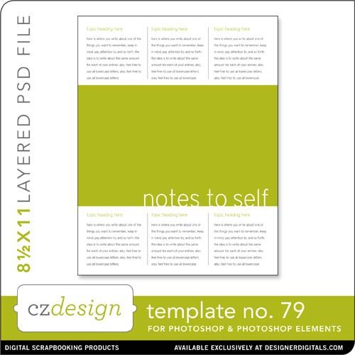Cathy Zielske's Layered Template No. 079 - Digital Scrapbooking Templates