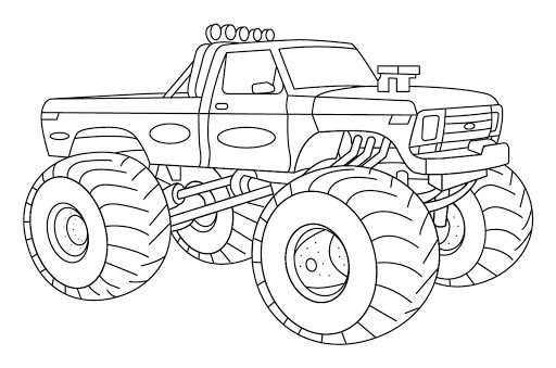 Gambar Mewarnai Mobil Penghancur Toy Car Wooden Toy Car Coloring Pictures