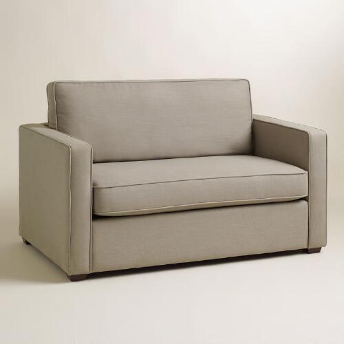 Pebble Gray Chad Chair And A Half Twin Sleeper Twin Sleeper Sofa Chair And A Half Small Sleeper Sofa