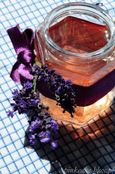 syrop lawendowy, syrop z lawendy, lavender syrup