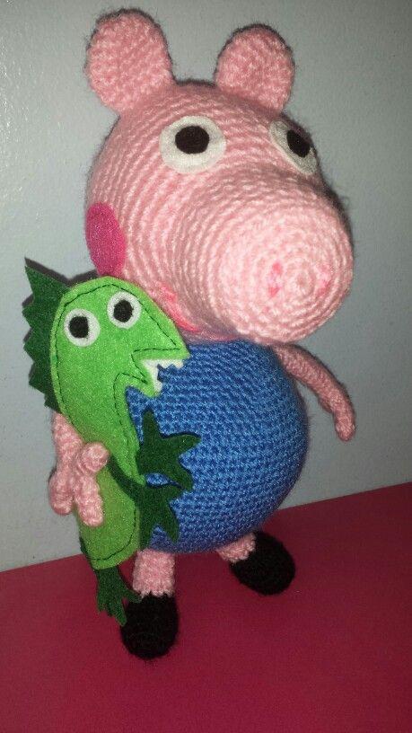George pig .Dinosaurio. ..! Amigurumis Pinterest ...