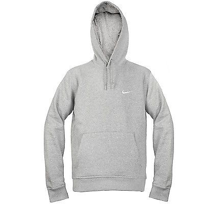 Nike Fleece Pullover Hoodie Medium Grey Men NWD 3282 | Nike, Grey ...