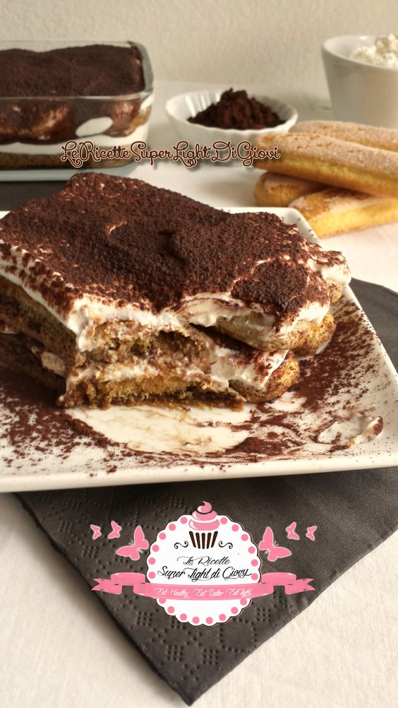 Tiramisù super light (138 calorie) | Le Ricette Super Light Di Giovi